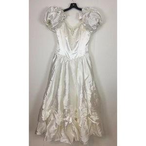 Dresses & Skirts - Vintage 1980s Puffy Wedding Dress size 14 White